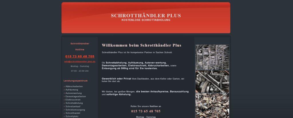 Schrottankauf Köln und Umgebung - Schrotthändler Plus